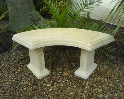 STONE GARDEN BENCH RUSTIC BENCH CURVED GARDEN CHAIR FURNITURE eBay