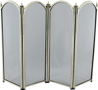 4 Fold Fire Screen Brass Various Sizes