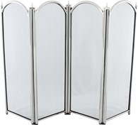 4 Fold Fire Screen Pewter Various Sizes
