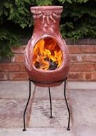 4 Elements Fire Clay Chimenea Patio Heater