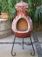 4 Elements Fire Clay Chimenea Patio Heater