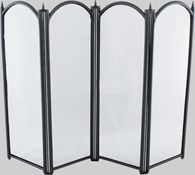 4 Fold Fire Screen Black Various Sizes