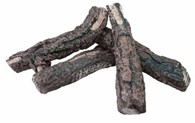 4 Large Decorative Ceramic Logs for Bio Ethanol Burner and Stoves