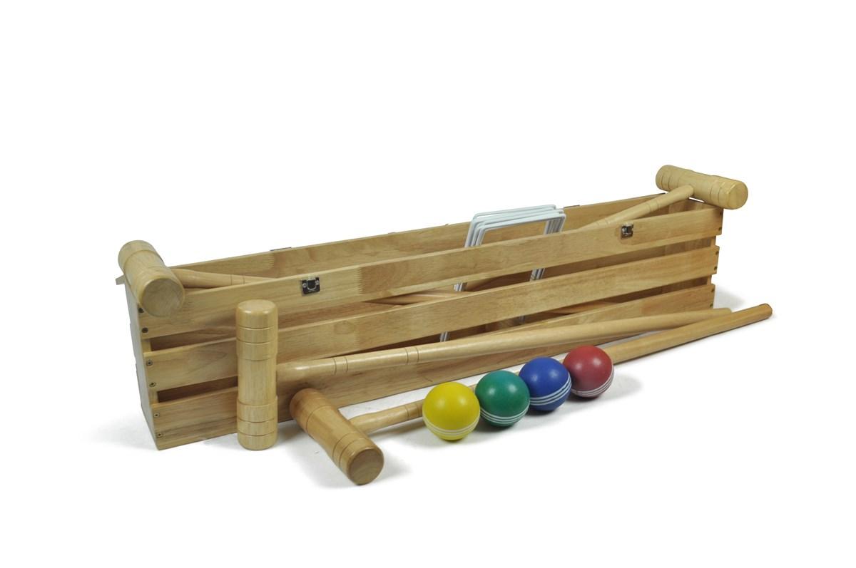 4 Mallet Pro Croquet Set In Wooden Box