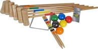 6 Player Family Wooden Croquet Set