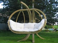 Amazonas Outdoor Double Hanging Garden Chair Globo Royal Natura With Stand