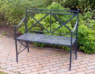 Antique Black Garden Bench