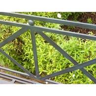 Antique Grey Garden Bench