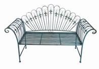 Antique Blue Shabby Chic Garden Bench