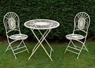 Antique Cream Shabby Chic Bistro Set