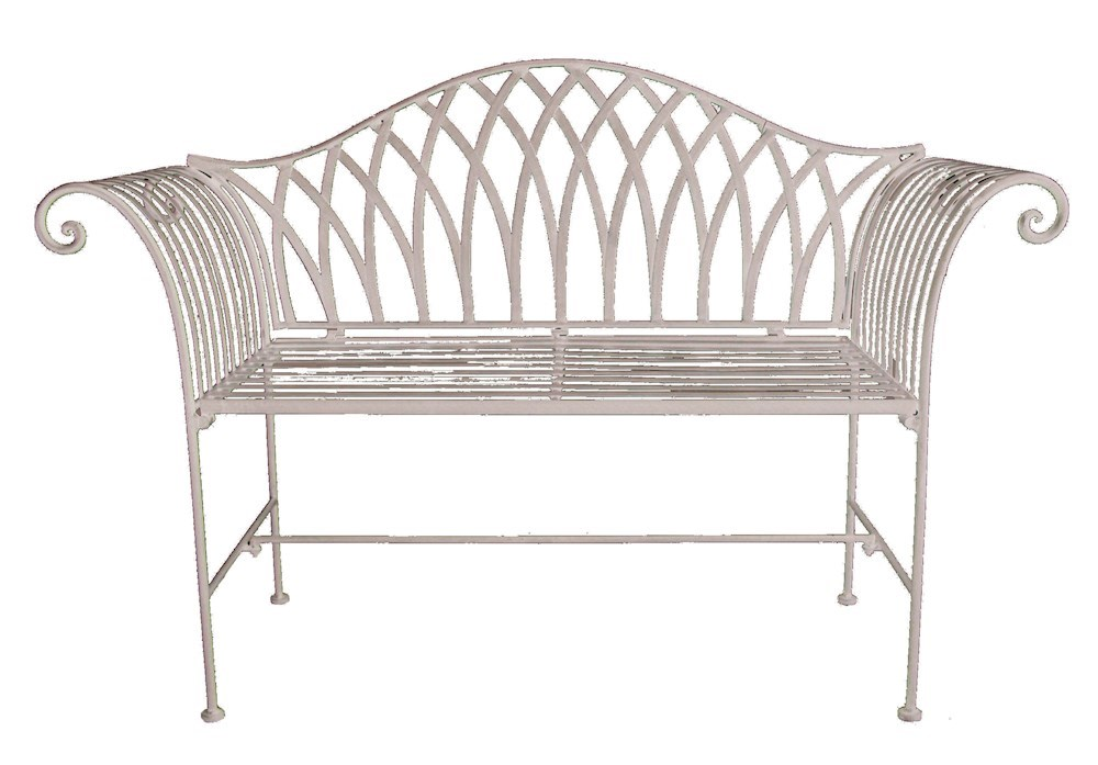 Shabby Chic Bench ~ Antique cream shabby chic garden bench savvysurf