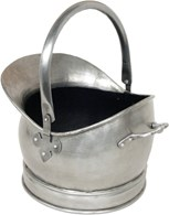 Antique Pewter Style Coal Bucket