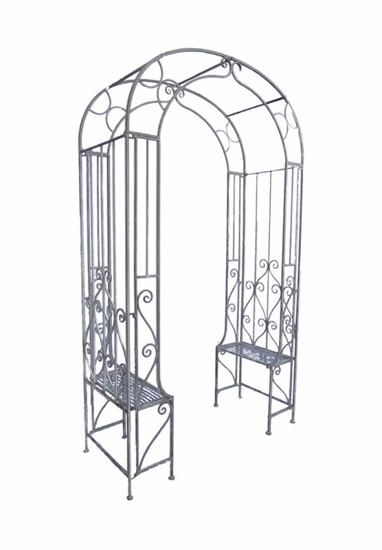 Superieur Arbour Steel Garden Arch With Garden Benches