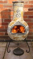 Azteca Mexican Clay Chimenea Patio Heater