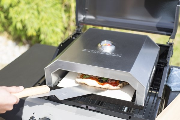 Firebox pizza oven outdoor portable oven stone baked gas grill pizza oven bbq ebay - Pierre a pizza barbecue gaz ...