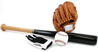 Baseball Set Including Baseball Bat Gloves and Ball