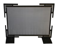 Black Contemporary Fireplace Spark Guard