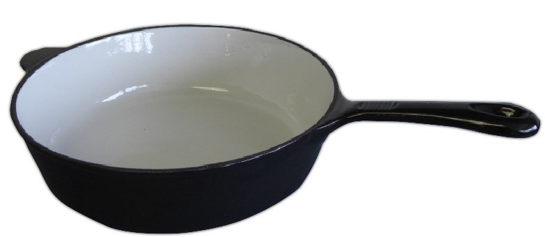 Black Enamel Cast Iron Saucepan