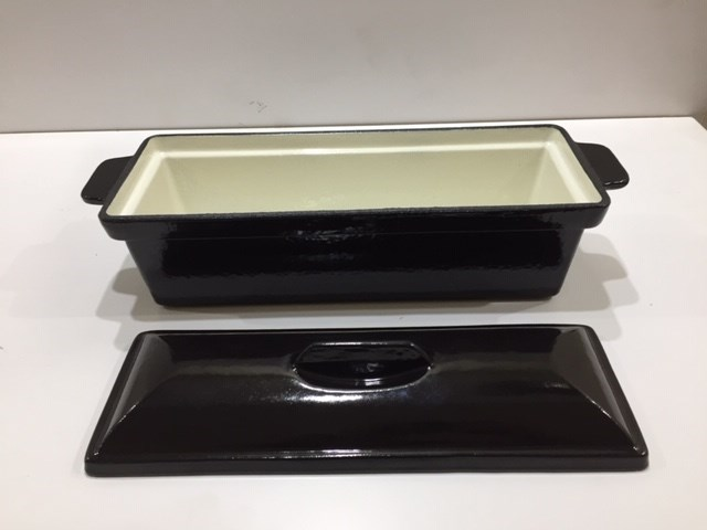 Black Enamel Stock Pot Terrine Dish