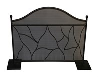 Black Modern Fireplace Guard