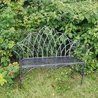 Black Shabby Chic Garden Bench