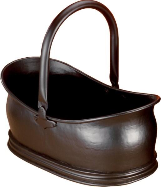 Black Traditional Coal Bucket Log Holder