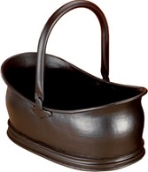 Black Traditional Coal Bucket Log Holder