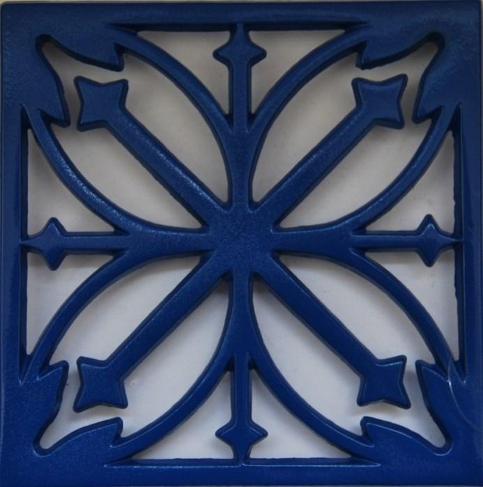 Blue Cast Iron Enamelled Trivet
