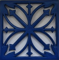 Blue Cast Iron Enamelled Trivet