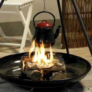 Bon Fire Coffee Pot / Tea Pot Red Enamel Large 2.2 Litres - savvysurf.co.uk