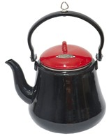 Bon Fire Coffee Pot / Tea Pot Red Enamel Large 2.2 Litres