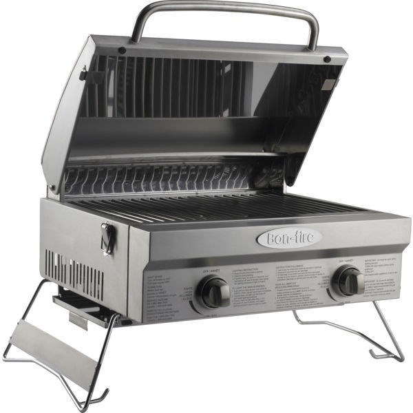 Bon fire portable gas barbeque table top gas barbeque bbq camping cooker bonfire ebay - Table top barbecue grill ...