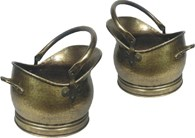 Brass Coal Buckets Set of Two