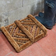 Coir Brush Door Mat Boot Scraper