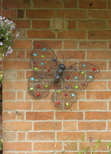 Garden Wall Art butterfly garden wall art - savvysurf.co.uk