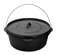 Campers Collection Cast Iron Stock Pot Dutch Oven Stew Pot