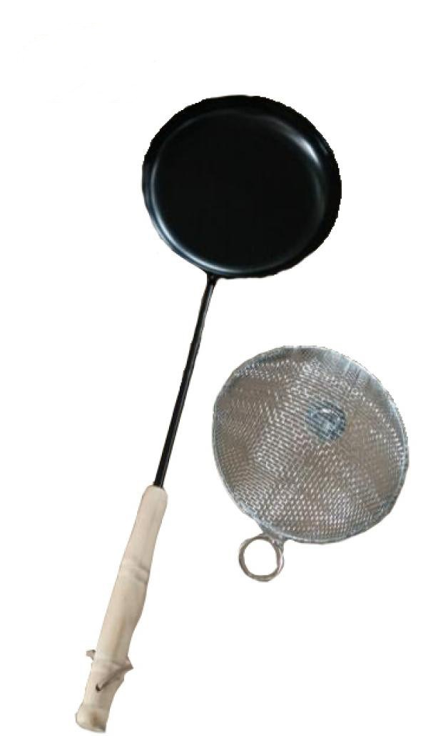 Camping Frying Pan with Popcorn Lid