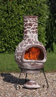 Cantera Mexican Chimenea Patio Heater