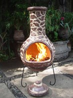 Mexican Clay Chimenea Patio Heater