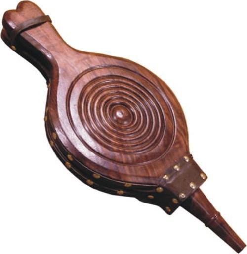 Carved Wooden Bellow Fire Starter