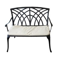 Cast Aluminium Garden Bench with Cushion