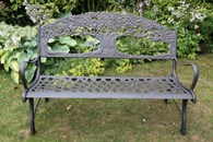 Cast Iron Bench with Tree Design