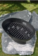 Cast Iron Boat Fire Basket Patio Heater Barbeque