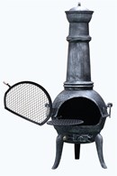 Cast Iron Chimenea with Swivel BBQ