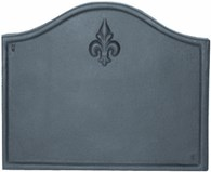 Cast Iron Fire Back with Fleur De Lys