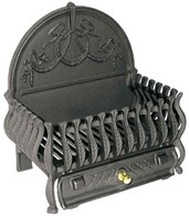 Cast Iron Fire Basket Dog Grate