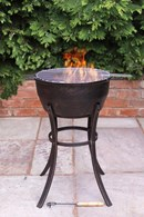 Cast Iron Fire Bowl with BBQ Grill
