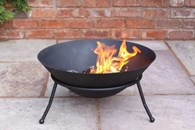 Cast Iron Fire Bowl with Stand
