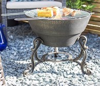 Cast Iron Firepit with BBQ Grill