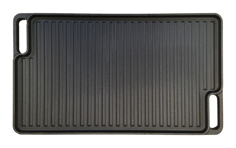 Cast Iron Griddle Pan Reversible Smooth and Ribbed